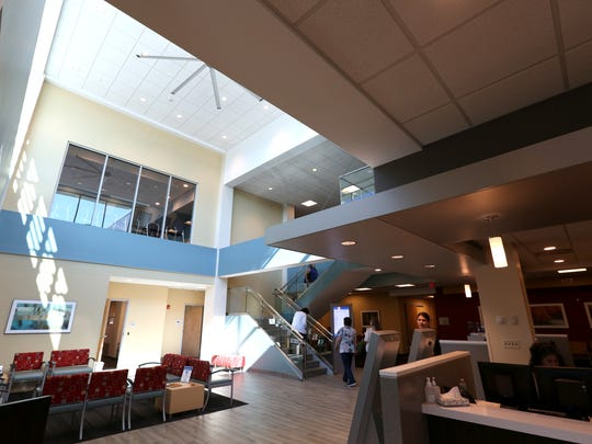 The main lobby at Crystal Run Healthcare's office in West Nyack.