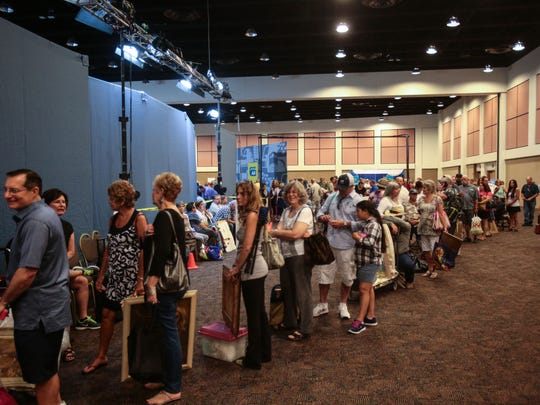Thousands lineup to have their antiques and family heirlooms appraised by experts when the Antiques Roadshow stopped by the Palm Springs Convention Center in Palm Springs, CA on Saturday, August 6, 2016.