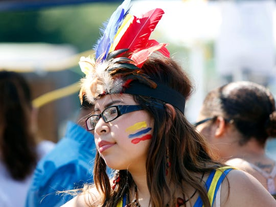 Ecuadorian native Jenipher Tamay, 16, of Spring Valley attends the 6th annual United Latin Festival in Haverstraw Aug. 7, 2016.