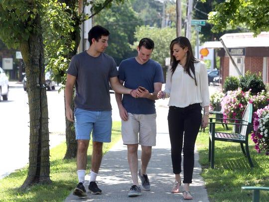 Jack Zandi (left), Zach Csillag (center), and Racquel