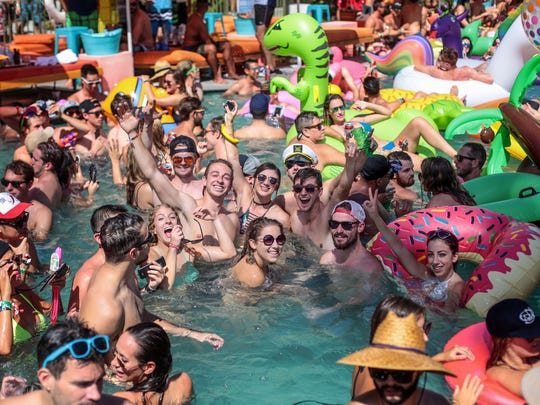 The Splash House party scene at the Saguaro Hotel in Palm Springs on Saturday, August 13, 2016.