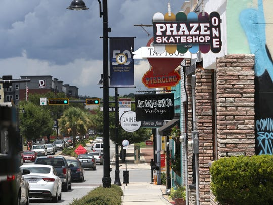 The intersection of Gaines Street and Railroad Avenue is home to a lineup of local shops.