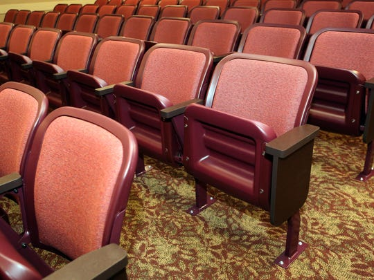 The new seating and carpet, which was part of the renovations