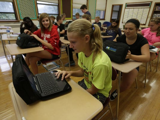 Chromebooks at South Park Middle School