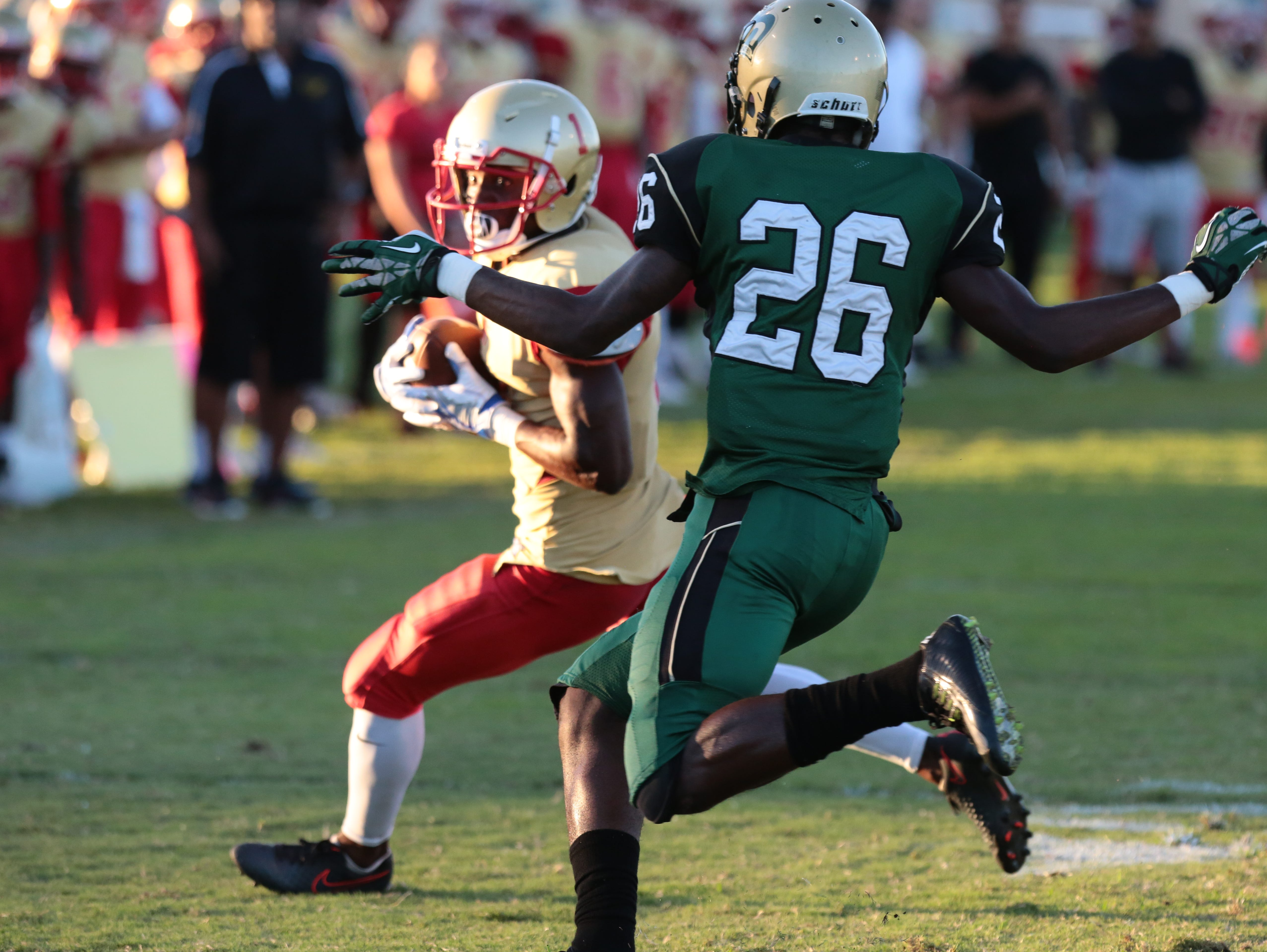 College of the Desert' and LA Valley football action on Saturday, September 10, 2016 in Palm Desert.