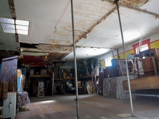 A side area only used for storage above Gordy Fine Art & Framing Co. is only used for storage by Muncie Civic Theatre. With the renovation plans this area will become a practice studio space.