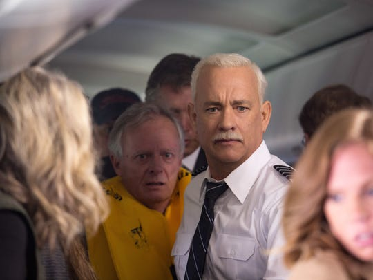 """Captain Sully Sullenberger (Tom Hanks) gets his passengers to safety in """"Sully,"""" directed by Clint Eastwood."""