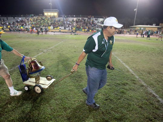 Coachella Valley keeps the bell after beating Indio 34 to 27 in the annual Bell Game on Friday, September 16, 2016 in Thermal.