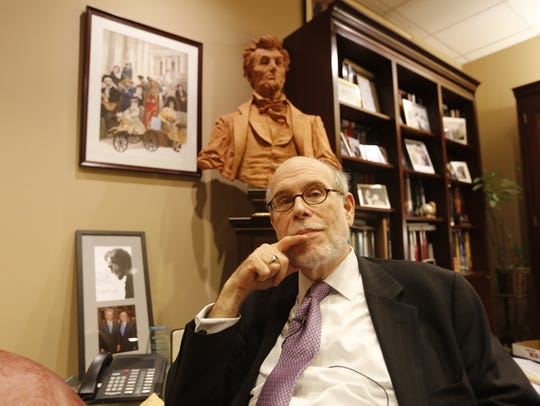 Historian Harold Holzer, who was president of the Abraham Lincoln Bicentennial Foundation and has written dozens of books on the 16th U.S. president. Here, he's pictured in his office at the Metropolitan Museum of Art, where he worked until his retirement three years ago.