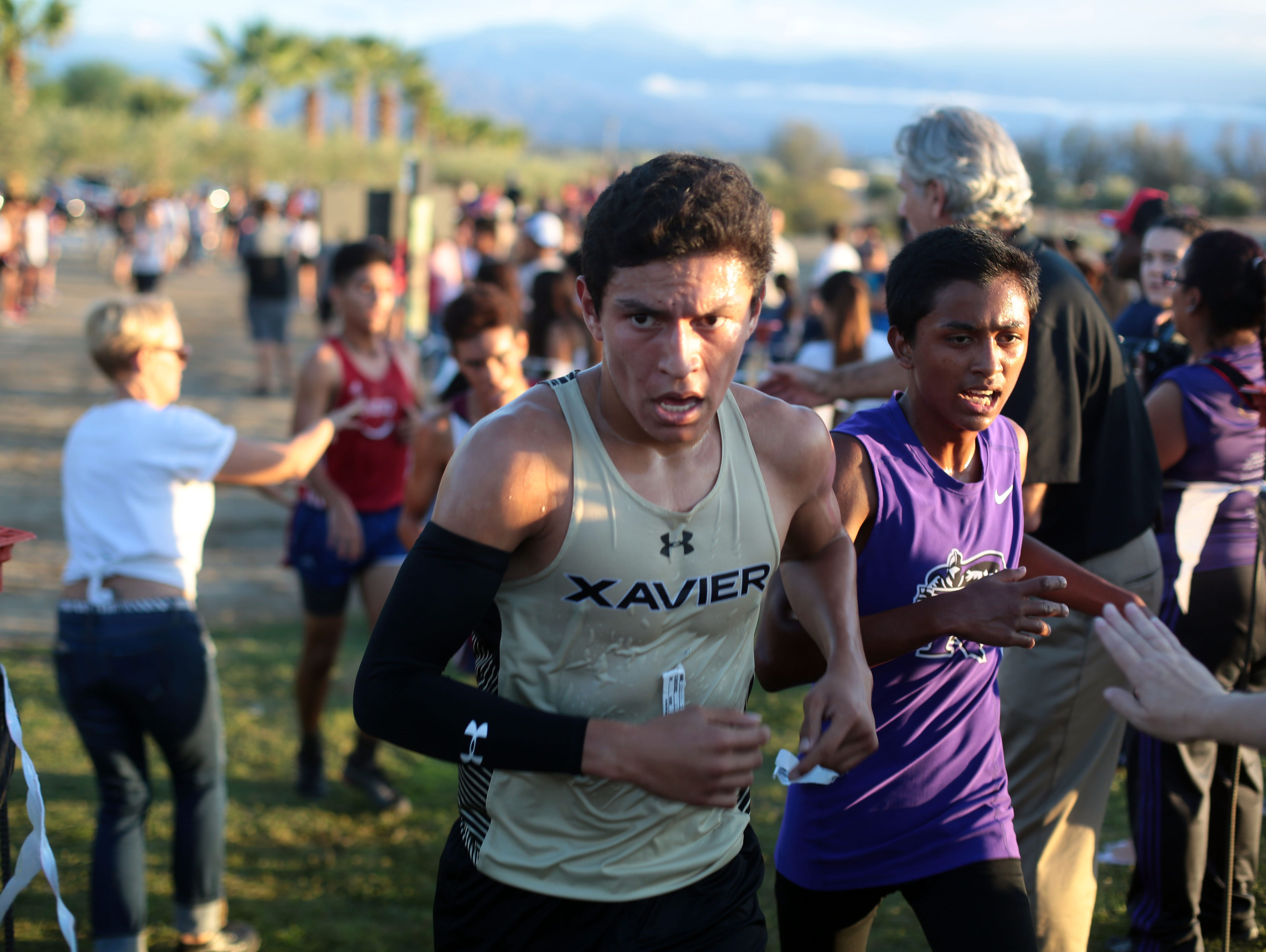 Scene from the cross country meet at Xavier College Prep in Palm Desert on Wednesday, September 21, 2016.