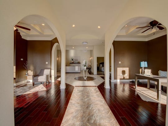 The open floor plan is bright and welcoming.