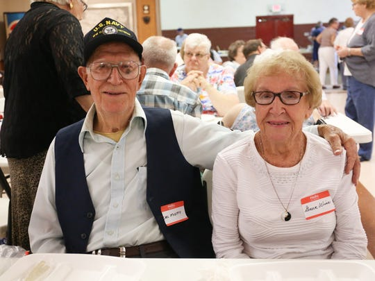 Carl McVitty and his sister Geneva Wise attended the Lurgan Township schoolhouses reunion Sunday, where they reminisced about their days at the Roxbury School, which closed on 1955. There were six one- and two-room schoolhouses in the township.