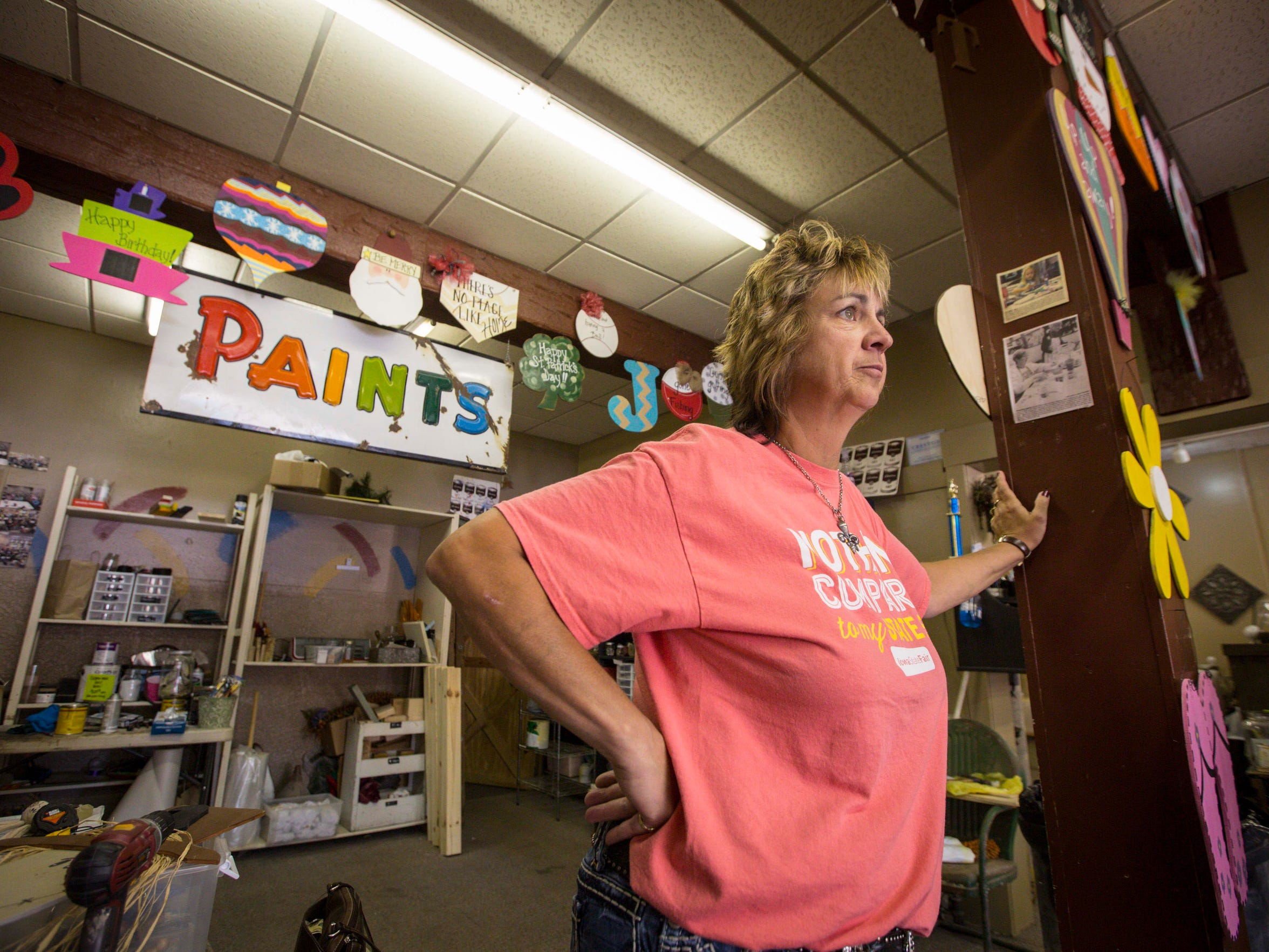 Nellie Kretz, owner of Old Market Primitives & Antiques