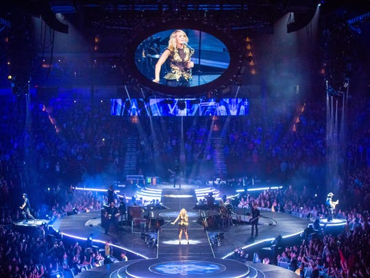 Carrie Underwood performs her show The Storyteller