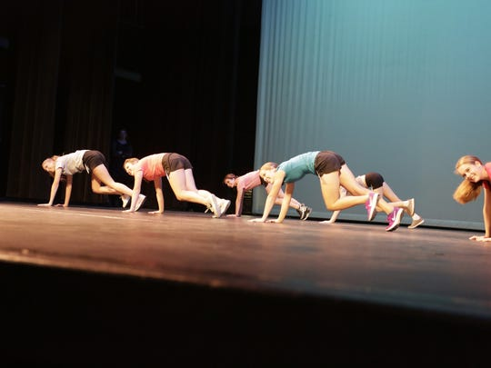 High school seniors competed in the fitness routine