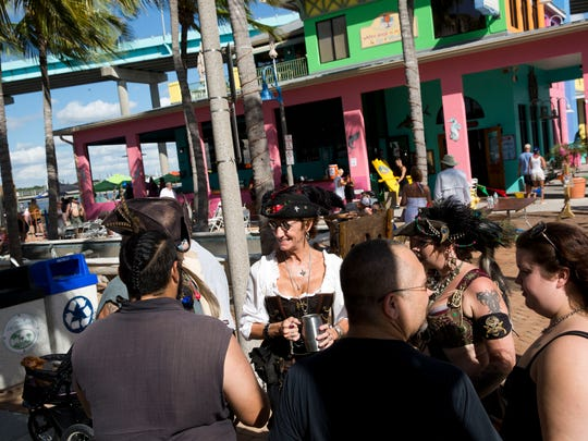 Scenes from the last day of the 11th Annual Fort Myers Beach Pirate Festival on Sunday, Oct. 9, 2016.