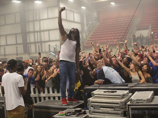 From 2016: Rapper Waka Flock Flame interacts with fans after his show on Iowa State University campus was cut short due to safety concerns, an Iowa State University official said.
