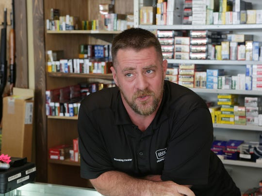 Gun store owner Brandon Haling of Armed Sources Gun & Pawn LLC talks about the current environment for selling guns.