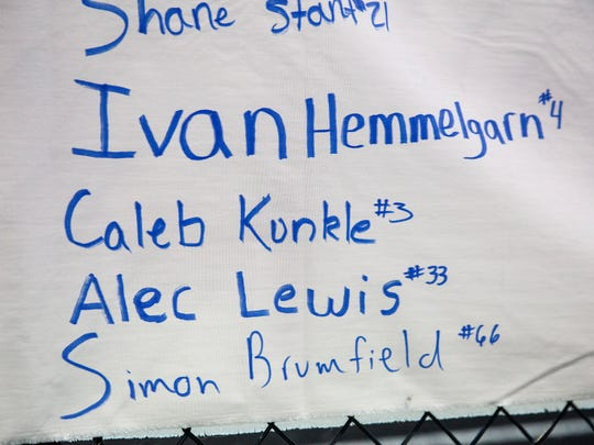 Caleb Kunckle's name is on the senior list with the