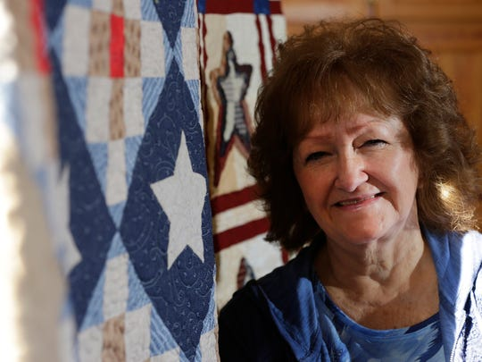 Donna McIntee has been quilting with the Golden Needle