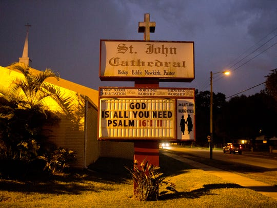St. John Cathedral sits along N 34th Street in East Tampa in a predominately African-American part of town in Hillsborough County, Florida Thursday, Sept. 29, 2016.