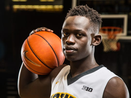 """Iowa's Peter Jok was one of 20 shooting guard named to the """"'watch list"""" for the Jerry West Award on Tuesday."""