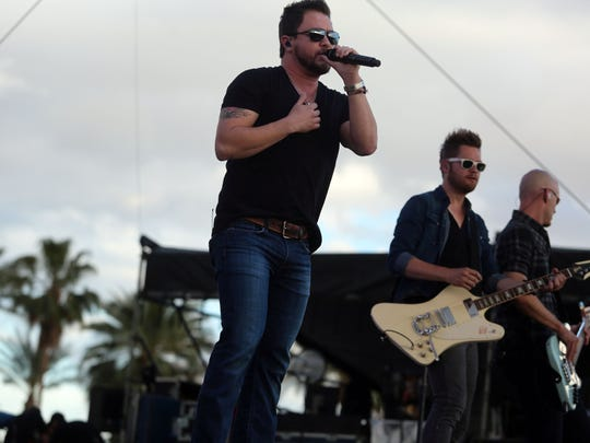 Eli Young Band performs at the Alabama National Fair on Saturday.