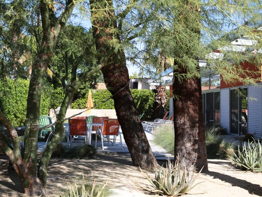 A vacation rental house, operated by the ACME House Company, located in the Movie Colony neighborhood of Palm Springs on Thursday, November 10, 2016.