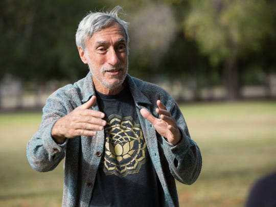 Steve Barowsky, tai chi instructor leads students in the practice of tai chi at the park next to the Mesilla Park Recreation Center Thursday, Nov. 10, 2016.