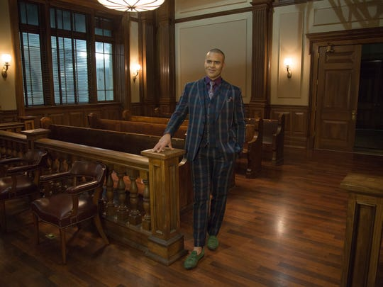 Courtroom stylist Chunk Palmer is the character Christopher