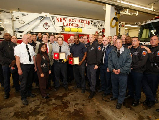 New Rochelle firefighters Lt. Brian O'Keefe and Kevin