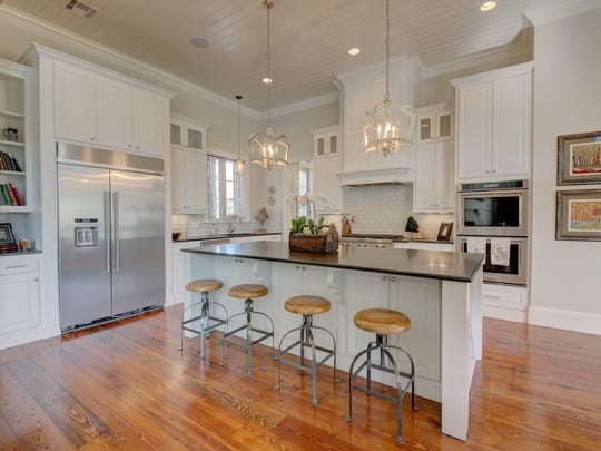The kitchen has top-of-the line appliances and finishes.