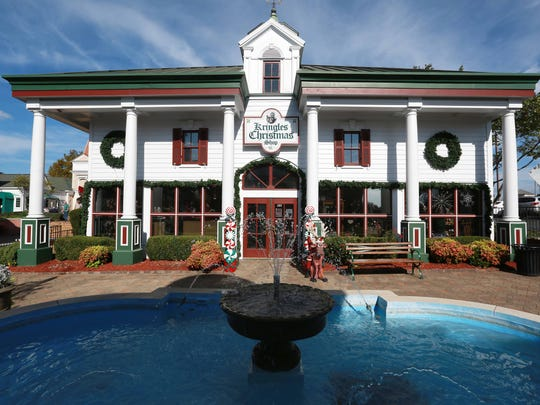 Kringles Christmas Shop is located in the Grand Village in Branson. It features 120 themed Christmas trees, is 8,500 square feet of shopping and has been in business since 1992.