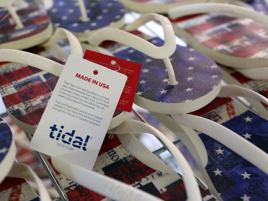 Tidal New York produces flip-flops locally with American
