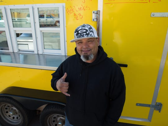 Food truck operator Mike Gamboa, who DJ's as Mike G.