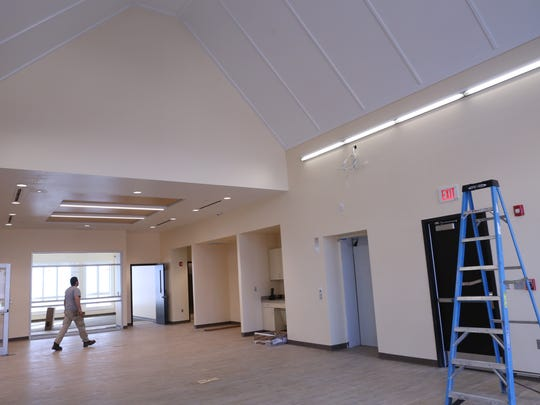 The gallery space on the second floor of the new West Milford library, pictured on Dec. 9, 2016 features large windows and a cathedral ceiling.