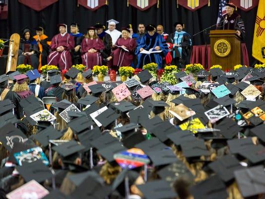 121016 - The Caps of NMSU graduation 19