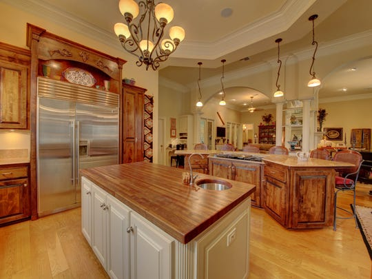 The spectacular kitchen is a gourmet chef's dream.