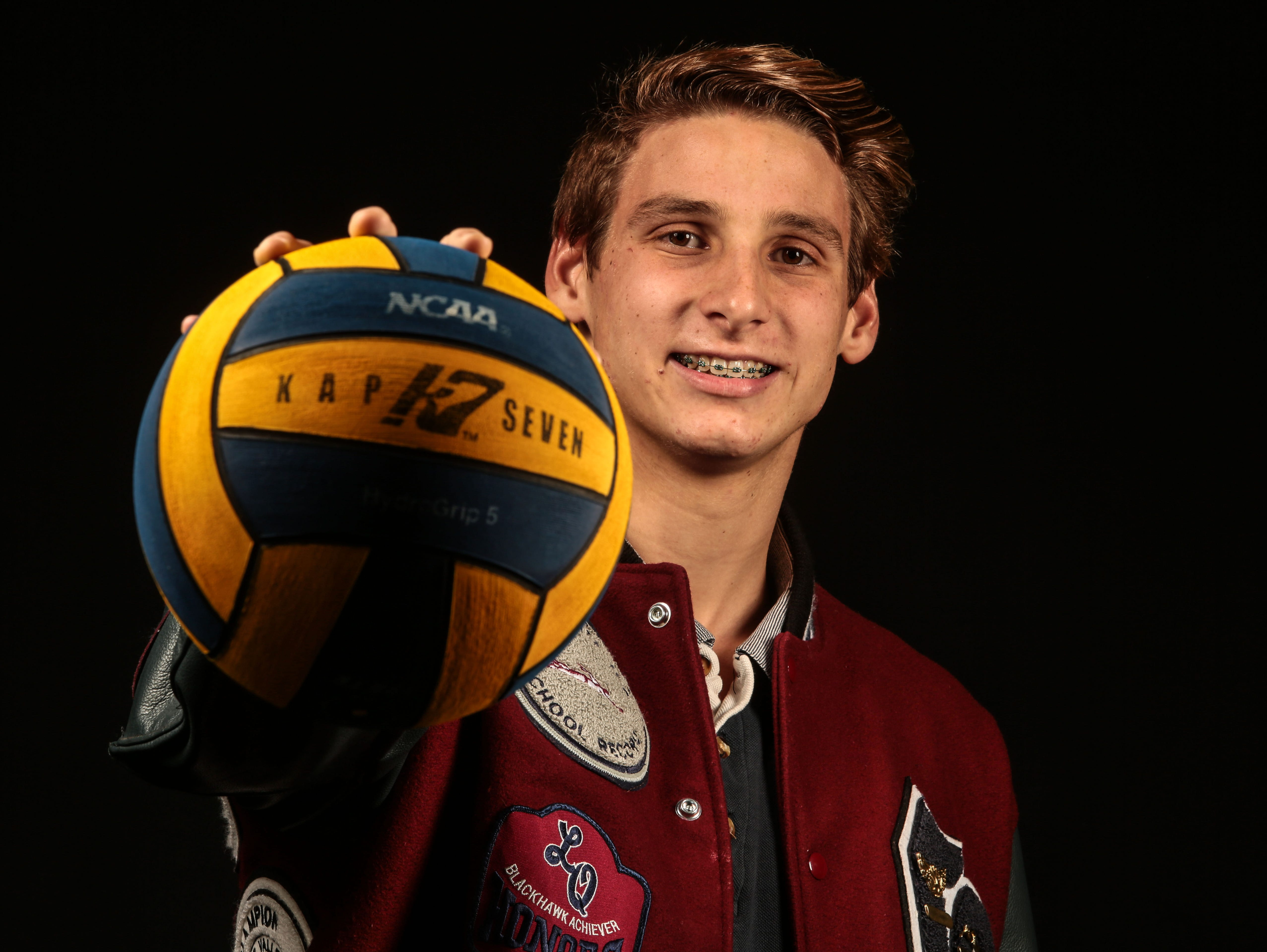 Spencer Lowell, La Quinta High water polo player on December 8, 2016 at the Desert Sun in Palm Springs.