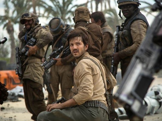 """Diego Luna as Cassian Andor in a scene from """"Rogue One: A Star Wars Story."""""""