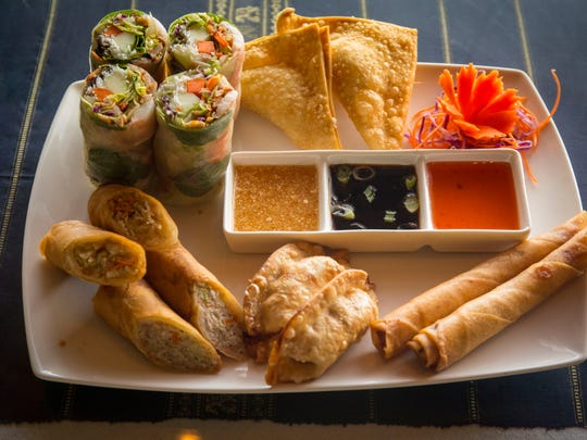 Pictured is the Fuzion sampler at Café Fuzion in Des Moines. The pan-Asian restaurant is relocating in Des Moines.