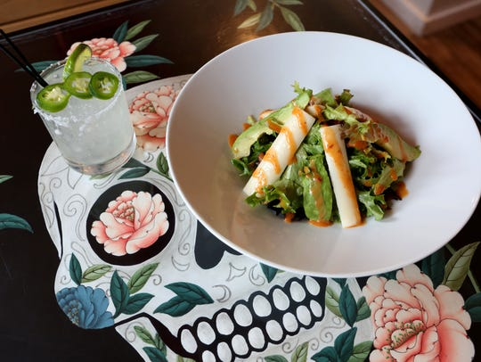 The Cantina salad with avocado, hearts of palm and