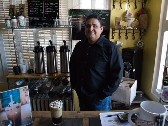 Sal  Ferrales,  the owner of Grinders Coffee Cafe and