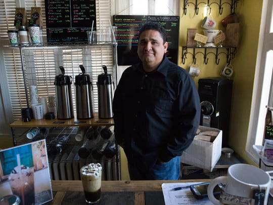 Sal  Ferrales,  the owner of Grinders Coffee Cafe and Grinders Coffee Roasters, pictured in Grinders cafe on Alameda, Wednesday, January 4, 2017