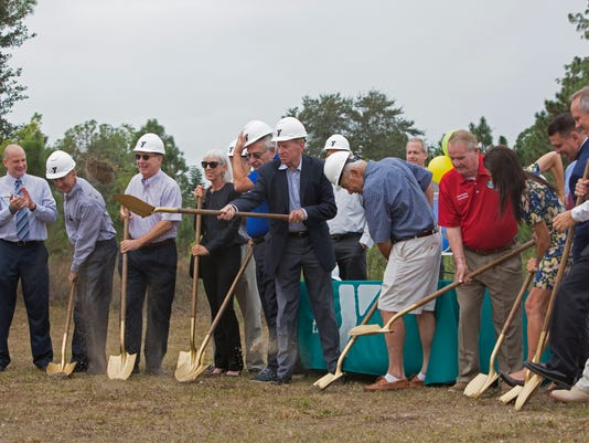 Bonita Springs YMCA pickleball groundbreaking