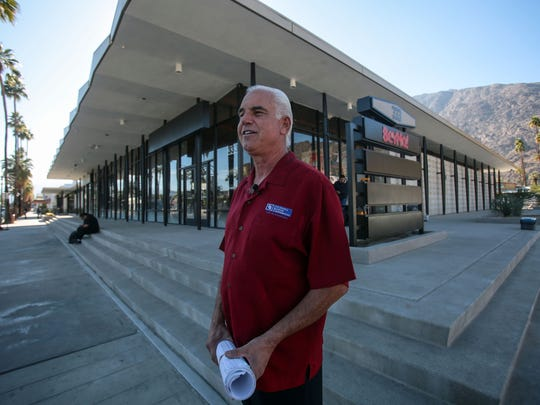 Steve Lyle, Coldwell Banker Commercial Lyle & Associates CEO, in front of the former Alley department store on Palm Canyon Drive in Palm Springs that is undergoing renovation. Photo taken on Thursday, Dec. 8, 2016.