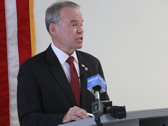 Rockland County Executive Ed Day seen here at a recent press conference.