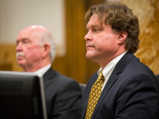 Robert Rhodes pleaded guilty Monday Jan. 9, 2017, to an Iowa fraud charge admitting his role in a now-infamous attempt to cash in on a winning Hot Lotto ticket worth more than $14 million,  at the Polk County Courthouse in Des Moines, Iowa.