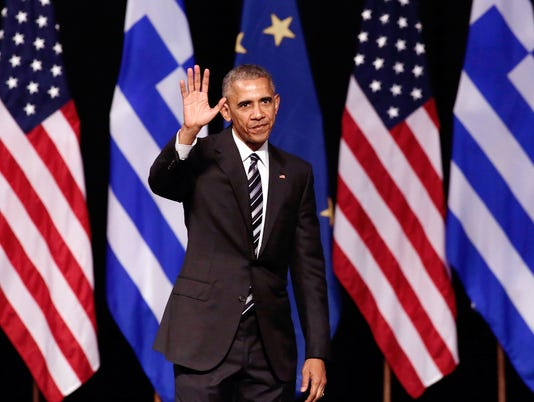 President Barack Obama Addresses An Audience At The Stavors Niarchos Cultural Centre
