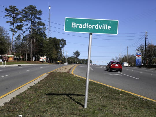 Four precincts in and around Bradfordville, to the north of Tallahassee, went red in November's presidential election.